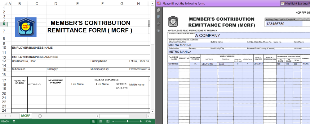 Pag Ibig Contribution Table